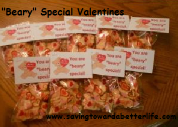 more alternatives to candy treats bubble valentines