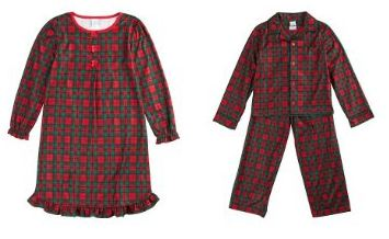 Candlesticks Christmas Plaid Kid's Sleepwear | 50% off at Amazon ...
