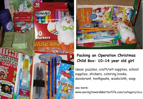 Operation Christmas Child Box Packed | Another 10-14 Year Old Girl ...