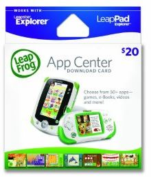 Compatible with Cartridges or Explore the App Center. LeapPad2 works with a library of more than game cartridges and apps.* Shop for LeapFrog Explorer game cartridges, or expand the fun right from your home computer by downloading new adventures from the LeapFrog App Center, a library full of amazing educational and age-appropriate apps for kids!