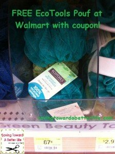 graphic about Ecotools Printable Coupon identified as $1/1 EcoTools coupon \u003d Absolutely free Poufs at Walmart (+overage