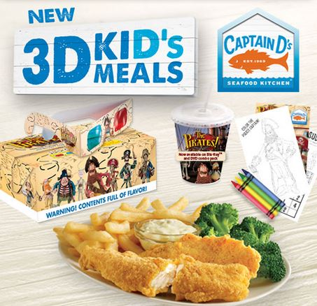 99 Kids Meals At Captain Ds Today Only