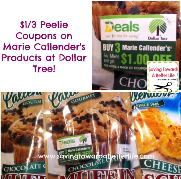 Dollar Tree Coupon Peelies on Products! Look for $1/3 Marie