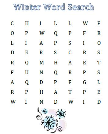 graphic relating to Winter Word Search Printable named Totally free Printable Wintertime Term Lookups for the Little ones - Preserving