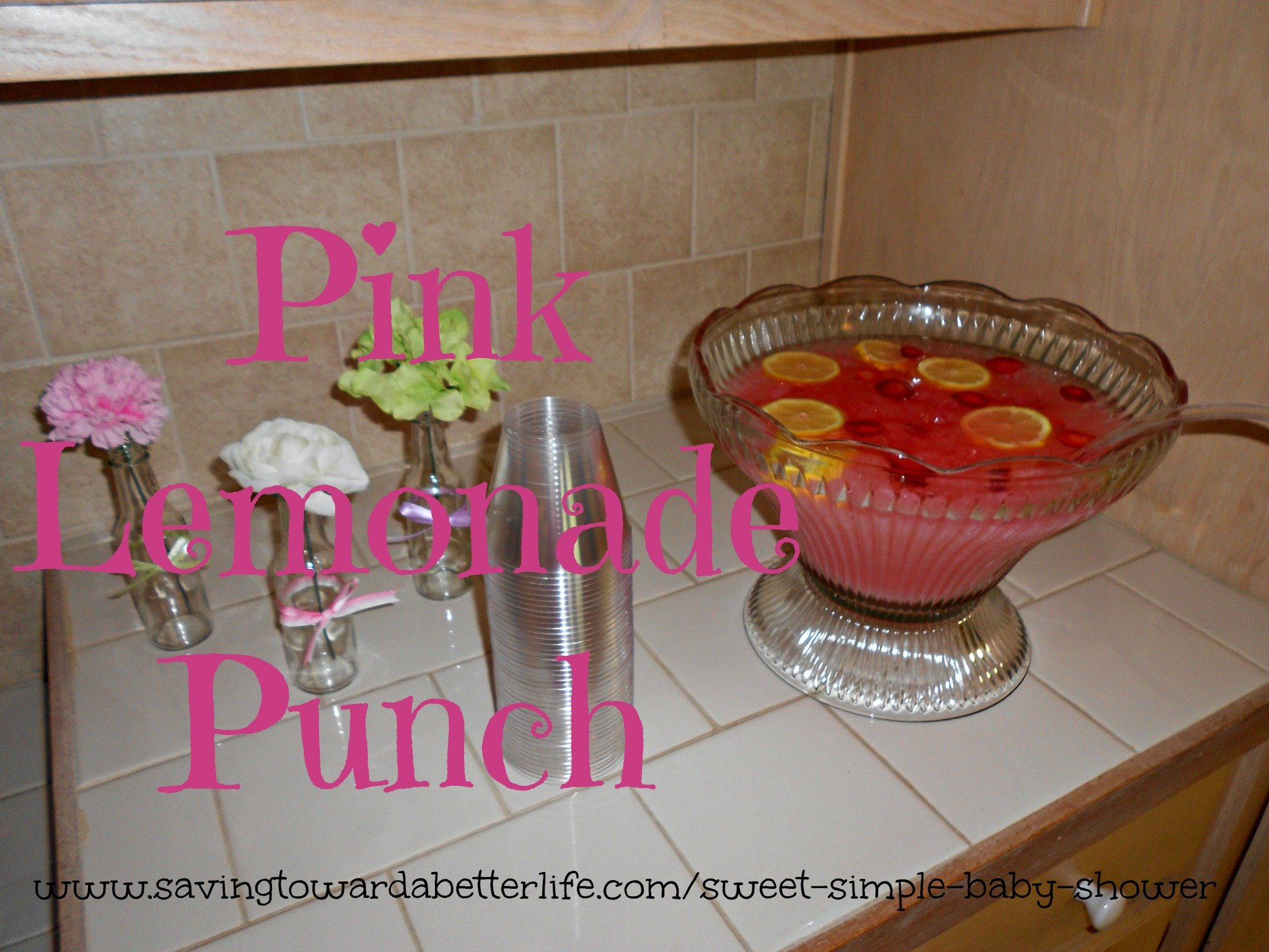 the pink lemonade punch went over very well at our shower and it was