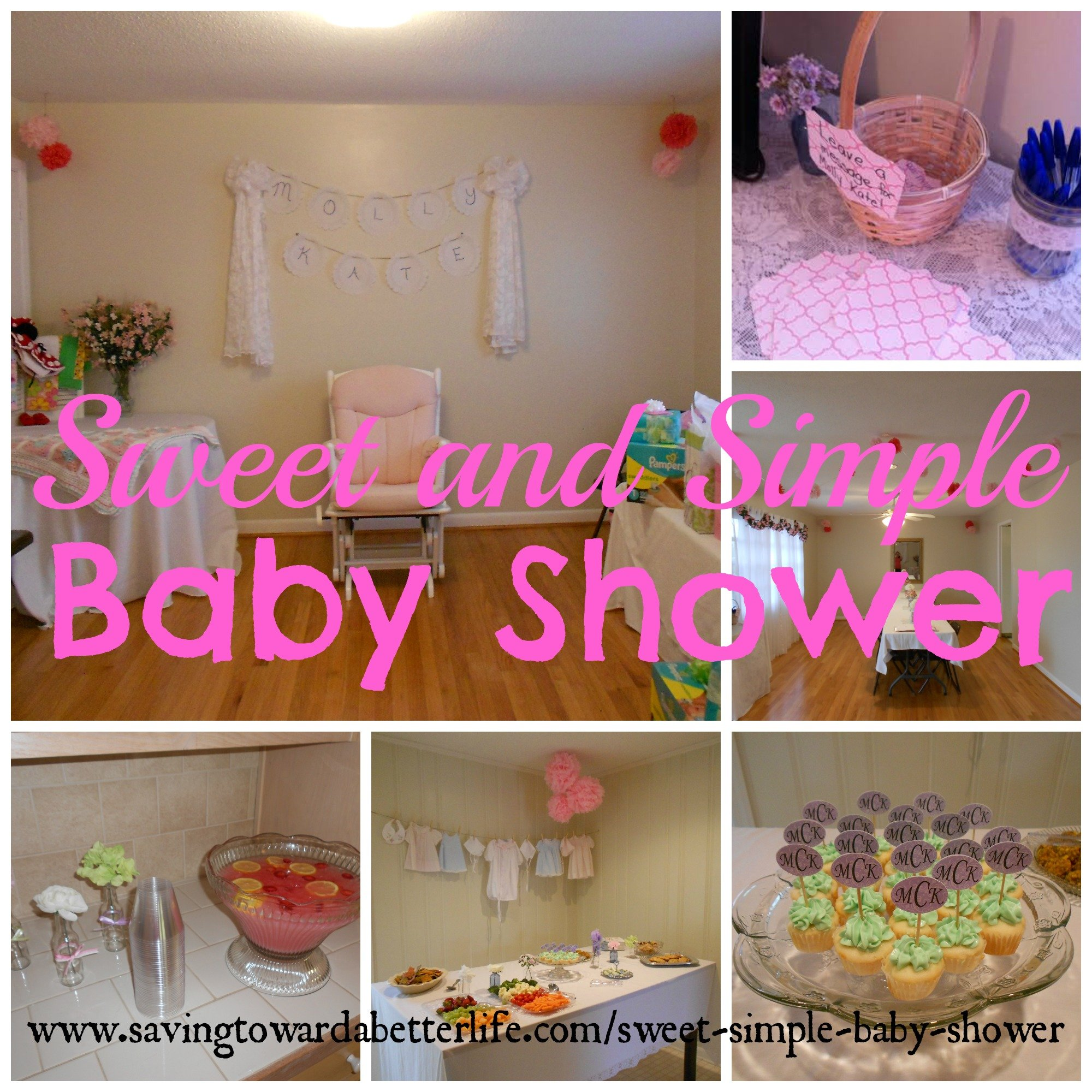 Sweet and simple baby shower ideas saving toward a