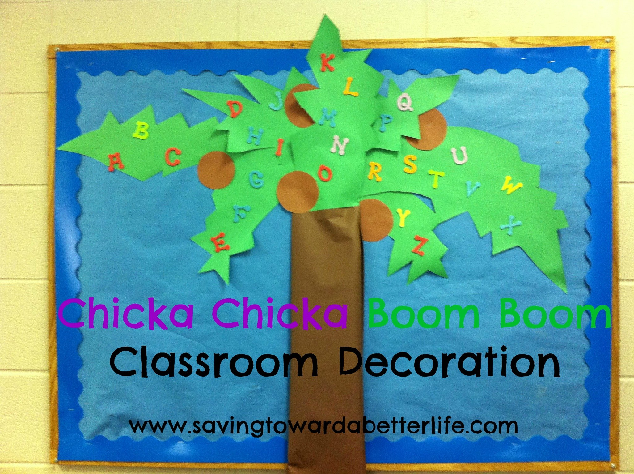 Letter Learning Ideas Chicka Chicka Boom Boom on April Bulletin Board Ideas
