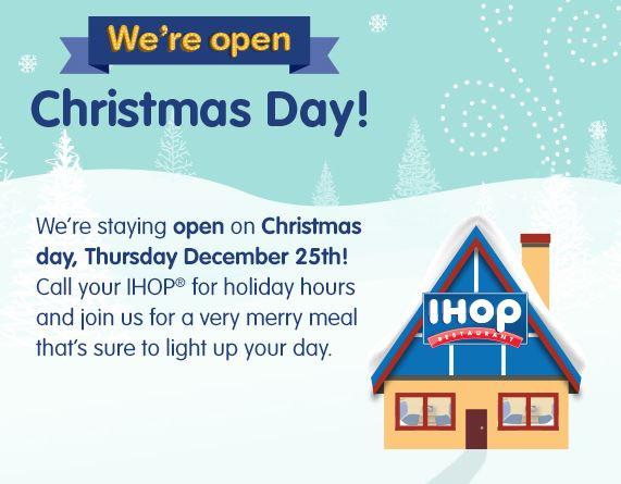 Ihop Open On Christmas Saving Toward A Better Life