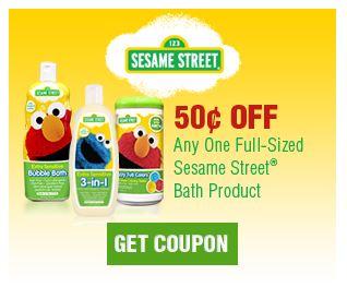 RARE: $ 50 off Sesame Street Bath Product Coupon = $ 50 at