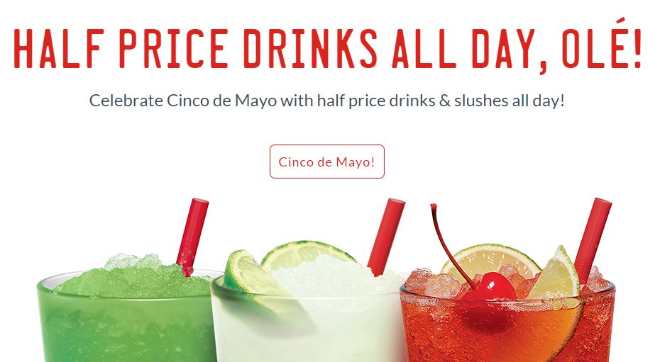 Sonic 1 2 price drinks all day on cinco de mayo saving toward a