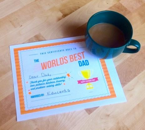 world s best dad certificate free download saving toward a