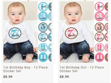 Monthly Baby Stickers 1 Month To 1st Birthday For 8 99 Saving Toward A Better Life