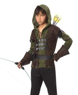 The Child Robin Hood Costume features a green hooded top with a lace up notch neck and an attached brown vest with buckle details in front.  sc 1 st  Saving Toward A Better Life & Costumes Arenu0027t Just for Halloween | Costume Discounters Robin Hood ...