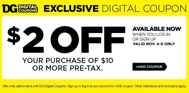 Dollar general digital coupons sign up