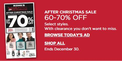 Kohls.com: 60-70% Christmas Sale + extra 15-20% off and Spend ...