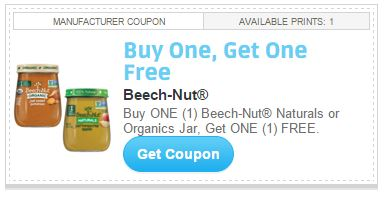 Today's top Beech Nut coupon: Discover Delicious Flavors Fit for Every Age and Stage. Get 4 coupons for
