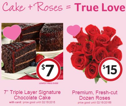 WinnDixies Valentines Day Solutions Surf n Turf Cake and Roses