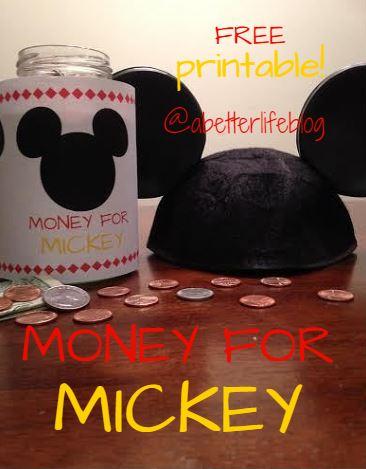 image regarding Savings Jar Printable named Pennies for Disney\