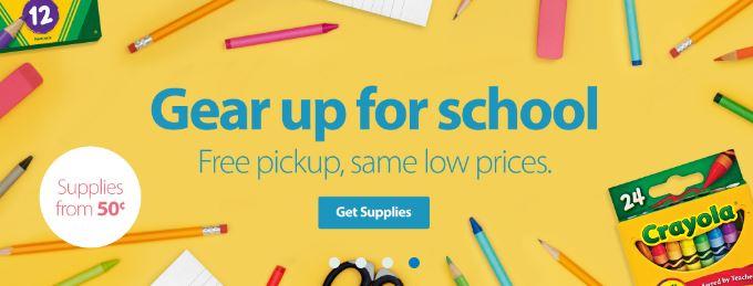 Walmart 10 Off 30 School Supplies Online Order Win Store Pick