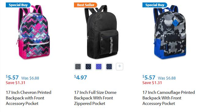 Walmart: Kids' Backpacks as low as $4.97 SHIPPED! (Or Backpack ...