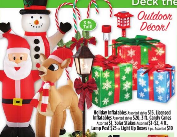 need some outdoor christmas decorations dollar generel has a 5 off a 15 purchase of outdoor holiday decor digital coupon exp 123