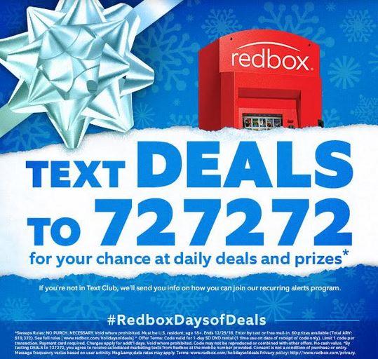 redbox text deals