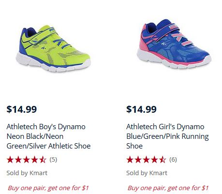 e1bbe3d19c13 Athletic Shoes for the whole family are buy one get one for just  1!  kmartkidsneakers