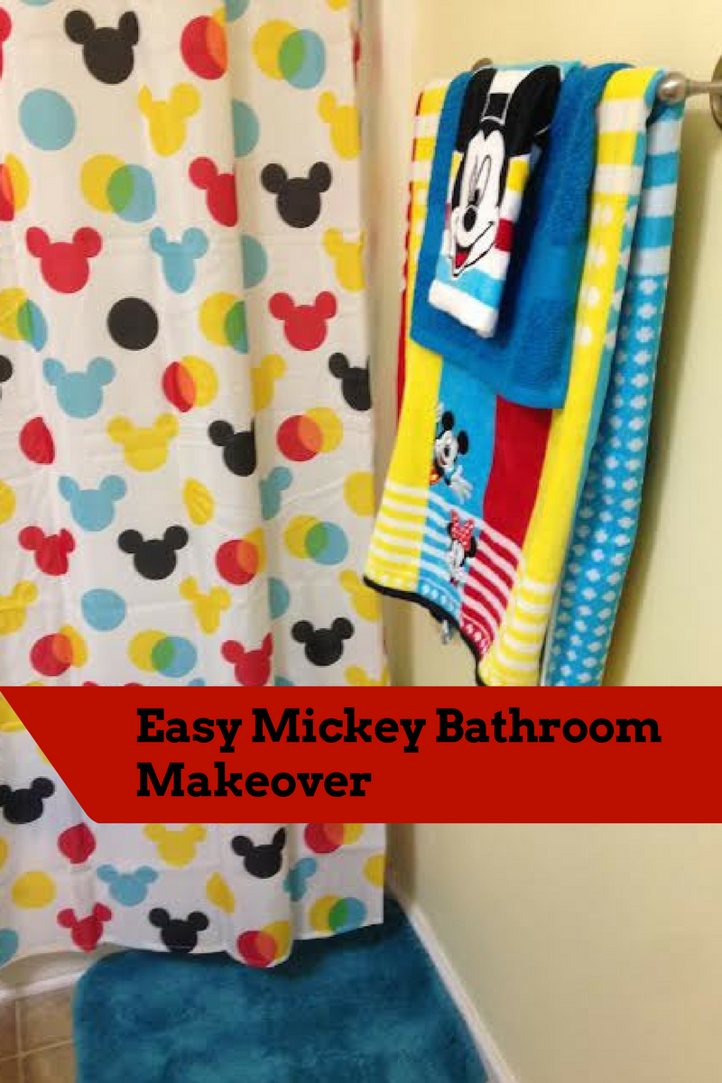 My Disney Mickey Mouse Bathroom Makeover From Kohl S