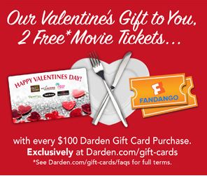 Two Free Movie Tickets With Restaurant Gift Card Purchase Saving Toward A Better Life Saving