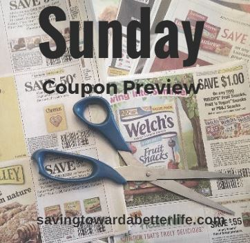 Sunday Coupon Preview For 4 7 18 Saving Toward A Better Life