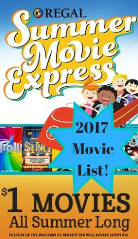 Regal Summer Movie Express 2017