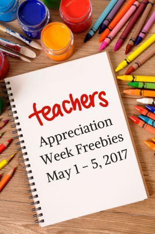 Teacher Appreciation Week 2017 Freebies: Teacher Appreciation Freebies and Discounts 2017   Saving Toward A    ,