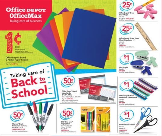 Office depot officemax back to school deals 7 9 to 7 15 saving toward a better life saving - How to save money when purchasing office supplies ...