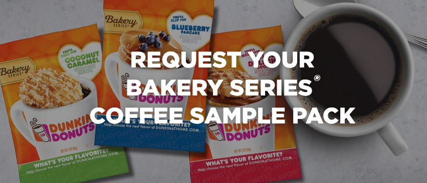 free dunkin donuts coffee sample pack hurry