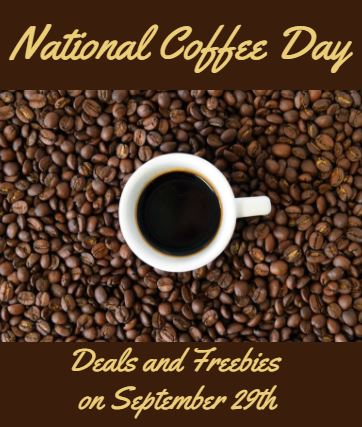 Friday September 29 2017 Is National Coffee Day
