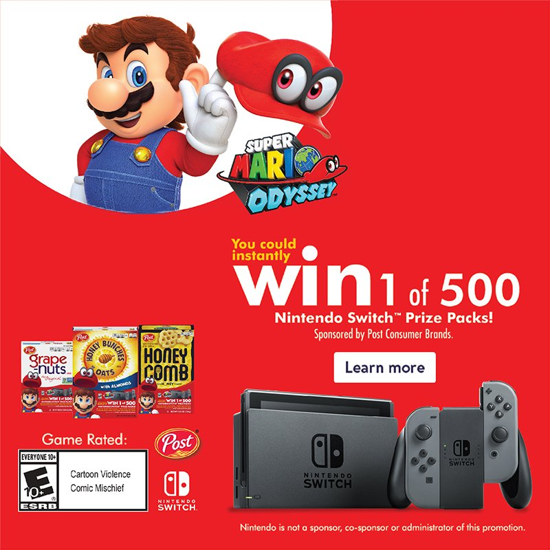 #PrizesWithPost You Could WIN A Nintendo Switch