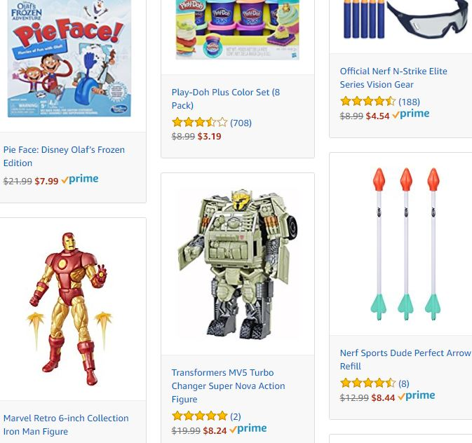 amazon is having a big last minute toy sale with a lot still able to arrive by christmas if you select the correct shipping options - Amazon Christmas Sale