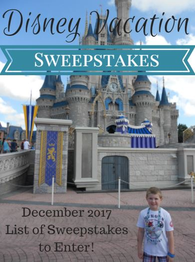 Only Days Left To Enter These Disney Vacation Sweepstakes For December 2017