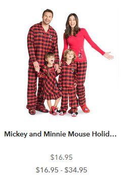 and mickey minnie mouse holiday plaid pajamas