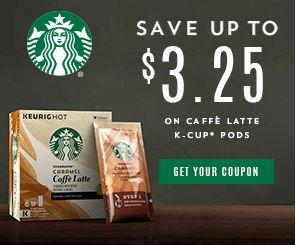 Starbucks k cups coupons