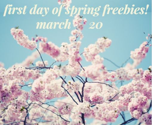 March 20, 2018 Is The First Day Of Spring!