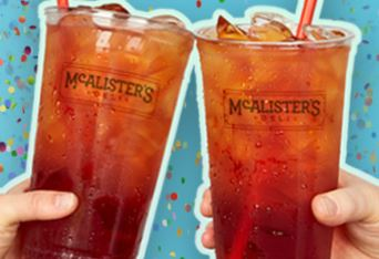 graphic relating to Mcalister's Coupons Printable named Free of charge Tea Working day 2019 at McAlisters Deli upon 7/18/19 - Conserving