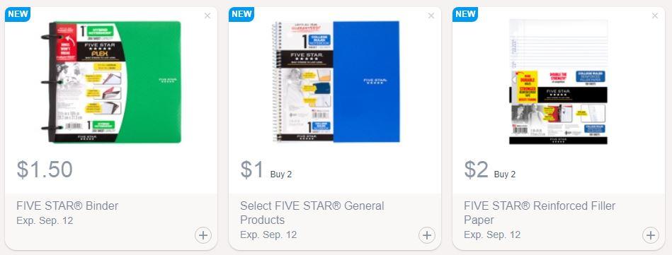 Savingstar Cash Back Savings On Five Star School Supplies Saving