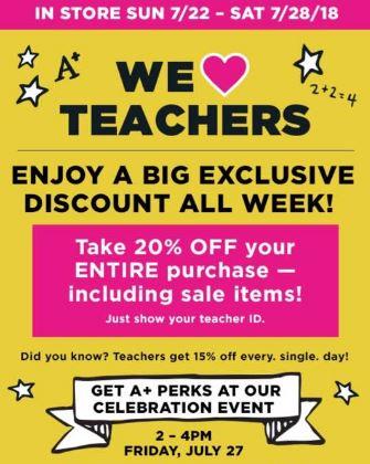 d22c767c071bcc Michael s  20% off for TEACHERS this week (includes sale items ...