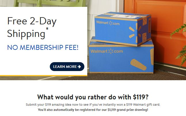 February 2018 walmart mail in sweepstakes