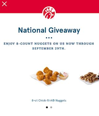 Chick-Fil-A App: Download or Sign in for a FREE 8ct Nuggets