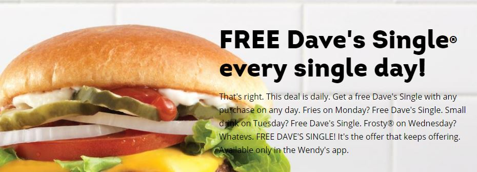 graphic regarding Wendy's Printable Coupons called Wendys: 3 Freebies in just the Wendys Application (salad, burger