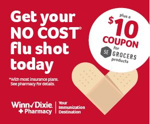 picture regarding Winn Dixie Printable Coupons called Winn-Dixie: $10 Coupon for Becoming Flu Shot (Cost-free with highest