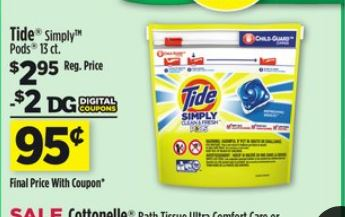 Dollar General Tide Simply Pods 13ct Just 95 With Digital Coupon