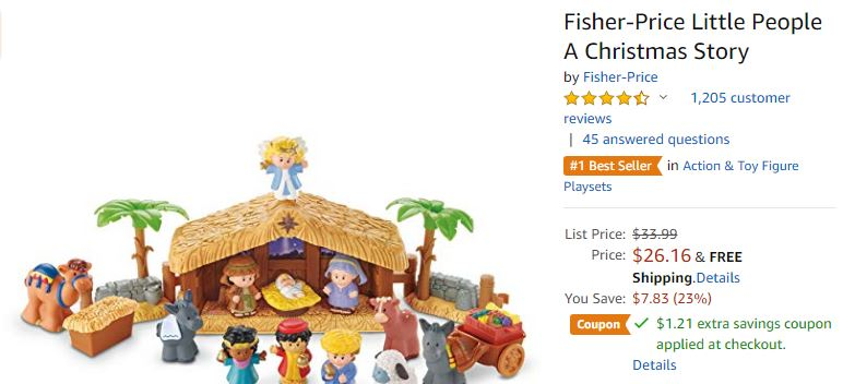 Fisher Price Little People Nativity 24 95 Lowest Price Saving